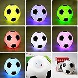 Bluelover Color cambiar LED fútbol humor luz noche lámpara decoración del partidonuevo