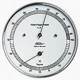 Haar - Hygrometer mit Thermometer, Edelstahlgehäuse Ø 100 mm