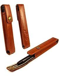 Alston Craig Vintage leather Executive Pen holder - Brown (compatible with MontBlanc, Shaeffer,