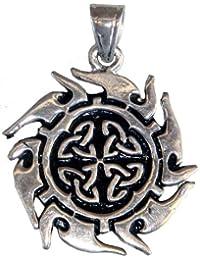 Gothic-Anhänger Schild der vier Himmelsrichtungen, mystisches Schutz-Amulett