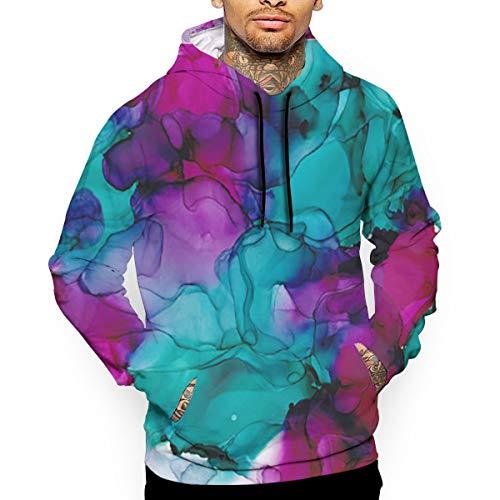 Bgejkos Die Hoodies der Farbexplosions-abstrakten Männer Pullover - Trainings-Sweatshirts -