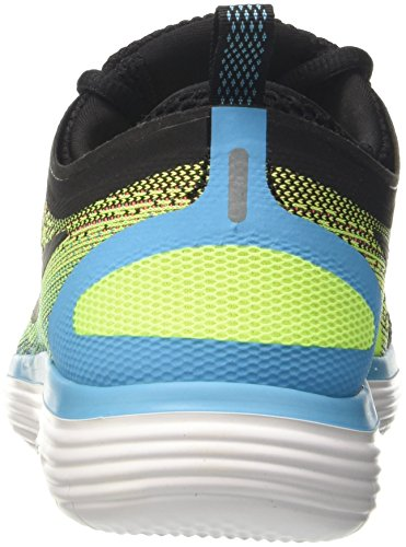 Nike Free RN Distance 2, Scarpe da Corsa Uomo Multicolore (Volt/Black/Hot Punch/Chlorine Blue/White)