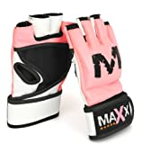 Max Ladies pink UFC Grappling Gloves MMA,Boxing,Cage - Small