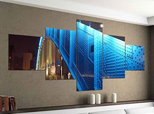 Acrylglasbilder 5 Teilig 200x100cm Brücke Metall Architektur Tokio Druck Acrylbild Acryl Acrylglas Bilder Bild 14F734