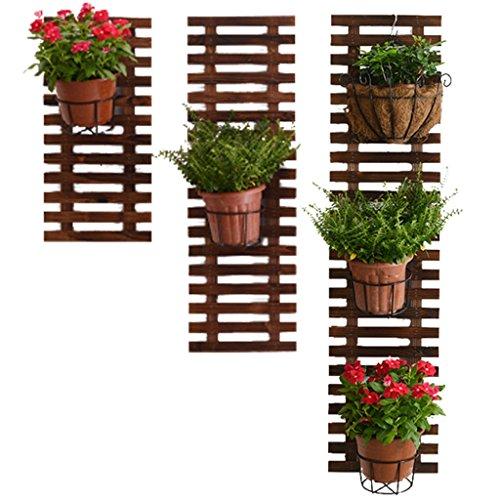 LXFYMX LXF Pflanzenbestand Anti-Korrosion Holz Wandbehang Blumenständer, Wanddekoration Blumenständer, Pflanze Klettergerüst, Blumenzahnstange (Size : 29 * 90cm)