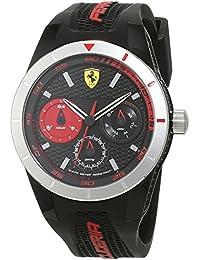 Ferrari 0830254 RedRev T - Reloj analógico de pulsera para hombre (cuarzo, correa de silicona)
