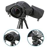 iKross Camera Rain Cover / Rain Jacket Protector / Waterproof Cover / Protective Camera Cover Rainproof for Canon, Nikon, Olympus, Sony, Panasonic, Pentax, Sony DSLR SLR Digital Cameras - Black
