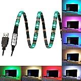 FAS1 RGB LED Streifen TV Stimmungs Lichter USB Fernseh Hintergrundbeleuchtung Justierbare Geschwindigkeit Helligkeit - Wasserdichte 100CM 5V LED Beleuchtung Für Fernsehen, Tischrechner, Fisch-Behälter