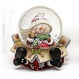 Bola de nieve con original y divertido, tamaño aprox. 6,5X 6cm/diámetro de 4,5cm, Muñeco de nieve, Ø 4,5 cm