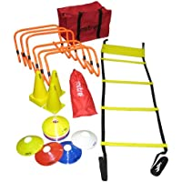 Mitre Football Training Kit with Agility Ladders, Hurdles and Cones
