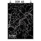 Mr. & Mrs. Panda Poster DIN A2 Stadt Trier Stadt Black -