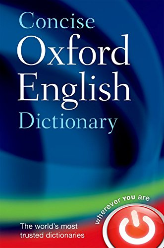 Concise Oxford English Dictionary (Diccionario Oxford Concise)
