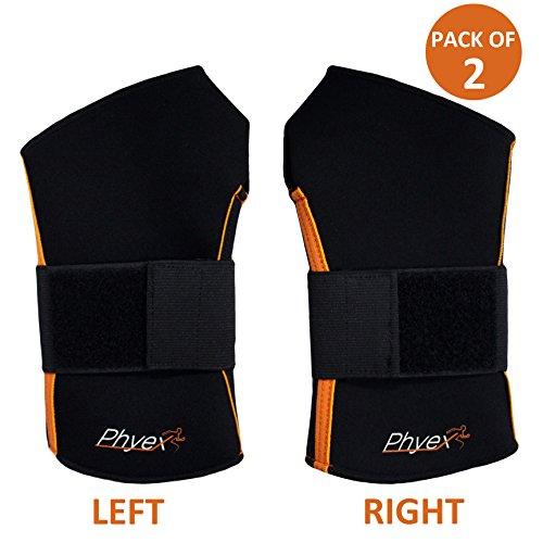 Phyex Starke Unterstützung, verstellbare Handgelenkbandagen - am besten zum Gewichtheben, Laden, Linderung von Handgelenkschmerzen, Verstauchungen, Karpaltunnel, Left & Right Hands, Small