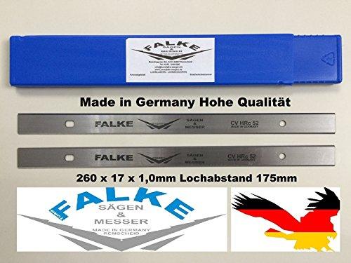 Preisvergleich Produktbild Hobelmesser Scheppach 2 Stück 260x17x1mm 175mm Lochabstand