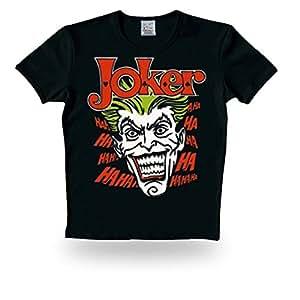 LOGOSHIRT Batman Retro Herren T-Shirt JOKER HA HA HA Schwarz Gr. L