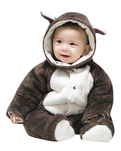 Kidsform Baby Unisex Weihnachten Halloween Karneval Langarm Outfits Jumpsuit Playsuit Strampler Zehn 73/6-12Monate
