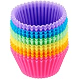 AmazonBasics Silicone Baking Cup Set, 12-Pieces, Multicolor