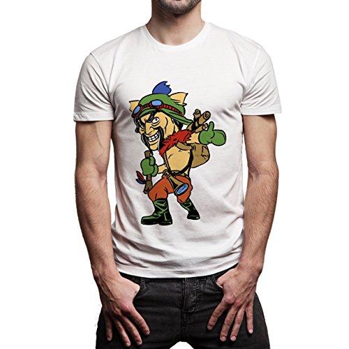 League Of Legends Champion Character Art Lolteemo Background Herren T-Shirt Weiß