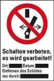 LEMAX® Verbots-Kombisch.Schalten verboten,ASR/ISO,Magnetfolie,Schultafellack,300x400mm