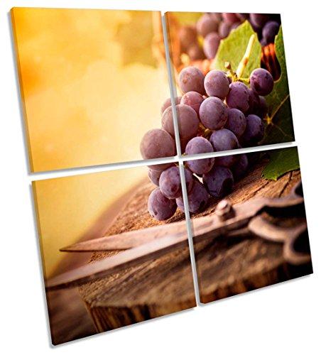 Geek-ernte (Ernte-Trauben Vineyard Wein Multi-Leinwand Wand Kunst Eckig Bild, gerahmter Kunstdruck, 150cm wide x 150cm high)