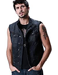 Match Men's Classic Denim Jacket Vest Gilet #MG308