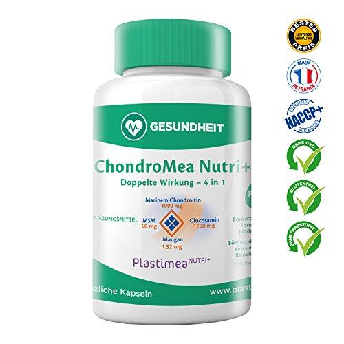 Chondromea Forte Gelenkkomplex – Gelenk-Tabletten gegen Gelenkschmerzen – Die einzige 4in1 Kombi: Chondroitin, Glucosamin, MSM, Mangan – 120 hochdosierte Gelenkkapseln, Reinsubstanz ohne Zusatzstoffe