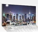 Acrylglasbilder 80x50cm Skyline New York Stydt USA Acryl Acrylbild Acrylglas Wand Bild 14?8038, Acrylglas Größe4:80cmx50cm