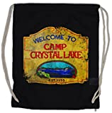Urban Backwoods Camp Crystal Lake Vintage Sign Turnbeutel Sporttasche Freitag The 13 Friday Jason Horror 13th
