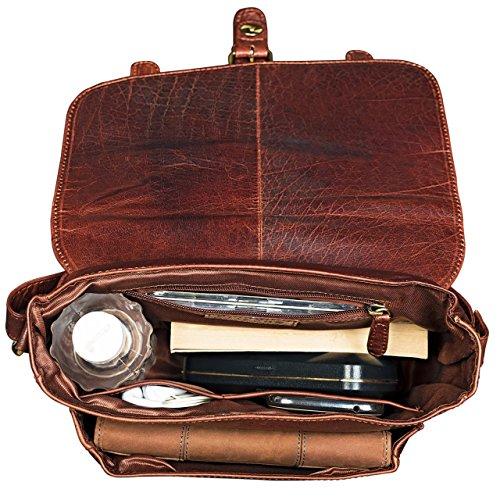 STILORD 'Lara' borsa donna a tracolla vintage in vera pelle formato piccolo Borsetta a bauletto da ragazza marrone per iPad Tablet da 10.1 pollici Cartella in cuoio, Colore:siena - marrone siena - marrone