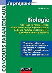 Biologie - Concours Psychomotricien, Manipulateur Radio, Ergothérapeute: Fiches, QCM, Annales