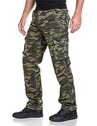 BLZ jeans - Pantalon homme cargo imprimé camouflage