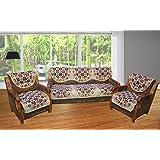 LatestHomeStore Beautiful Golden Designer Set of 5 Sofa Cover (Pack OF 10)