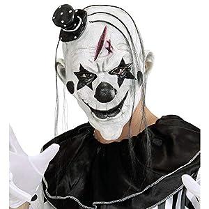 WIDMANN 00848 - Killer Clown máscara con pelo y Minihut para adultos