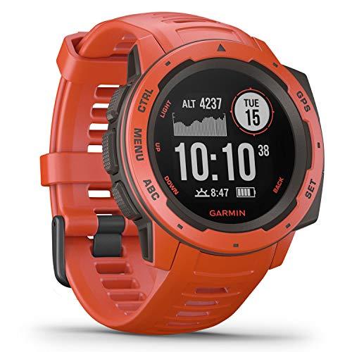 Garmin Instinct – wasserdichte Sport-Smartwatch mit Smartphone Benachrichtigungen und Sport-/Fitnessfunktionen mit GPS - Garmin Uhr