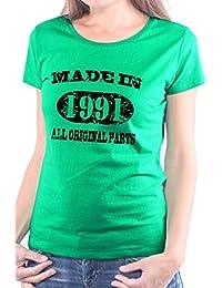Mister Merchandise Femme Chemise T-Shirt Made in 1991 All Original Parts Years Jahre Geburtstag