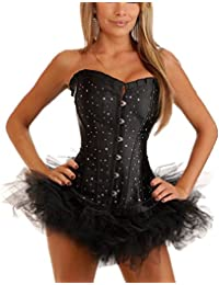 Free UK delivery Stunning Black diamante corset and tutu skirt, long lined & finished in black satin, size 6,8,10,12,14,16,18,20,22 By Aimerfeel