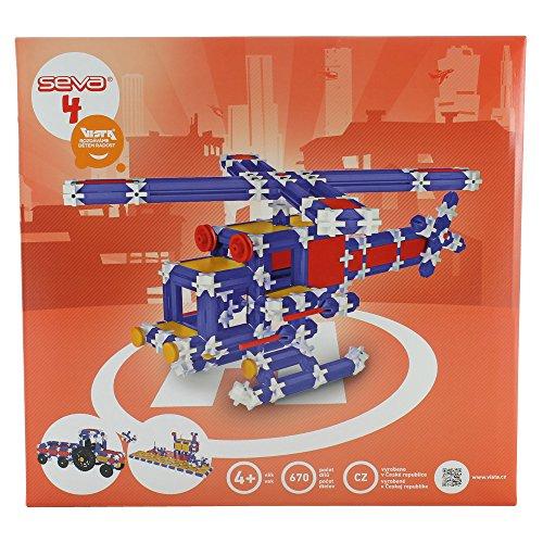 Preisvergleich Produktbild Dieser Baukasten besteht aus 668 Teilen, mit denen  das Kind einen Traktor mit dem Auflieger oder ein Haus mit der Möbel aber auch eine Formel 1 oder einen Jäger konstruieren kann.