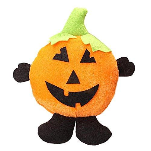 Mit Kostüme Schwarzem Diy Halloween Kleid (Hirolan Halloween Puppe Ornaments Kinder Geschenke Szene Dekoration Hexe Kürbis Geist Ornaments)