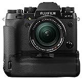 """Fujifilm X-T2 + Obiettivo Zoom XF18-55mm F2.8-4 R LM OIS Fotocamera digitale da 24 megapixel, Sensore X-Trans CMOS III APS-C, Mirino EVF 2,36MP, Schermo LCD 3"""" orientabile, Ottiche intercambiabili, Nero+ Fujifilm VPB-XT2 Grip per X-T2, Nero"""