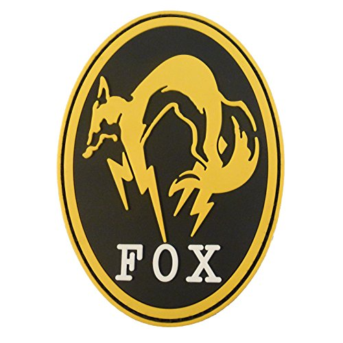 Metal Gear Solid Fox Hound Ground Zeroes PS4 Xbox Cosplay PVC 3D Touch Fastener Patch
