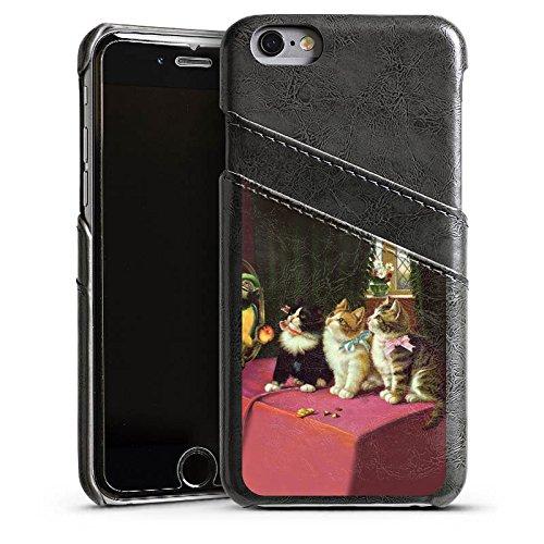Apple iPhone 4s Housse Étui Silicone Coque Protection Paul Klee Des chats et un perroquet Art Étui en cuir gris