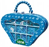 Lena 32114 - Holzperlen Blechhandtäschchen, ca. 15 cm, blau