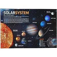 Preisvergleich für Schreibtischunterlage Sonnensystem und Planeten / Erde Planet - 50 cm * 36 cm - PVC Unterlage / Knetunterlage / Schreibunterlage / Tischunterlage - für Jungen Mädchen