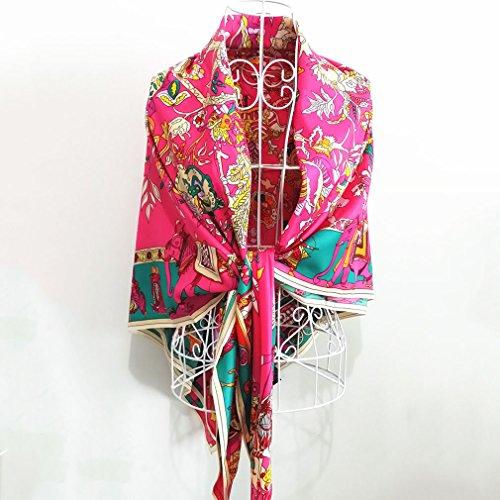 Frauen Schal 130cm Seide Twill Satin große Handtuch Frühling und Sommer Schal Schal Studenten Eltern Paare Junior Jugend mittleren Alters ältere Menschen (Schal Junioren)