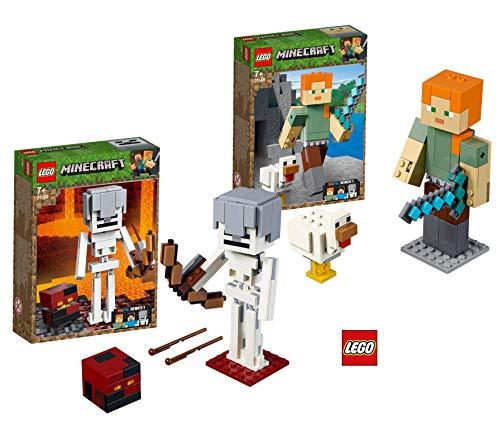 LEGO Minecraft™ 21149 Minecraft™-BigFig Alex mit Huhn Minecraft™ 21150 Minecraft™-BigFig Skelett mit Magmawürfel
