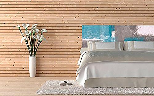 Cabecero Cama PVC Pintura Geométrica | Medidas 100x100 cm | Fácil colocación | Decoración Habitación | Motivos paisajísticos | Naturaleza | Urbes | Multicolor | Diseño Profesional