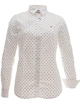 Gant Stretch Oxford Printed Dot Shirt, Blusa para Mujer