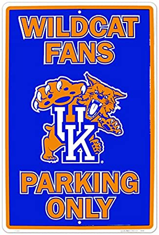 University of Kentucky Wildcats Fans Parking Only NCAA Tin Sign