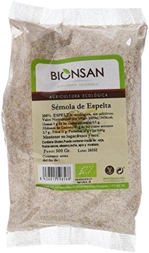 Bionsan Sémola de Espelta - 6 Paquetes de 500 gr - Total: 3000 gr