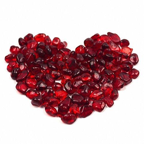 Glassteine für Aquarien von OMEM dekorative Glaskristalle, Aquarium-Kies, rot